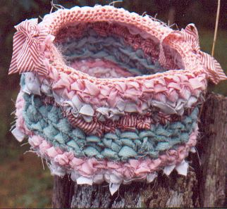corbeille BB en tissu crochete