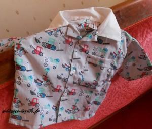 chemisette d'été très couture-main