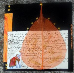 carte-collage et mixed media