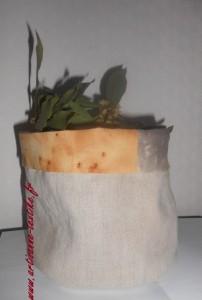 Pot en lin et en tissu DIY à la rouille