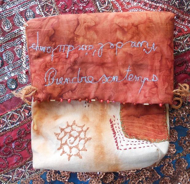 impression textile à la rouille