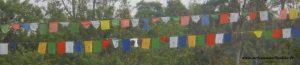 drapeaux de prière bouddhistes