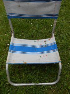 100% récup: la vieille chaise de plage