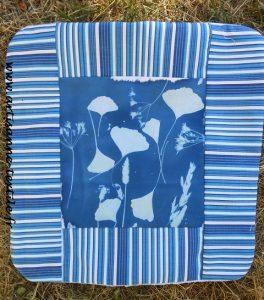 coussin bleu cyanotype
