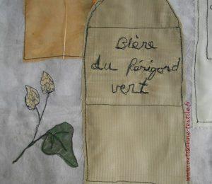 teintures naturelles et fleurs de houblon