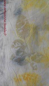 împression de feuilles par éco-print