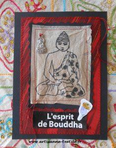 Carte-textile: l'esprit de Bouddha
