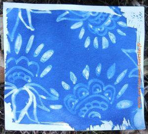 cyanotype au dessin maison