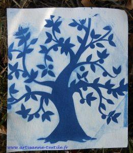 Cyanotype arbre