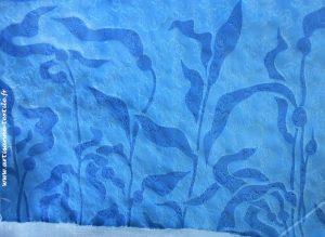 cyanotype sur tissu texturé