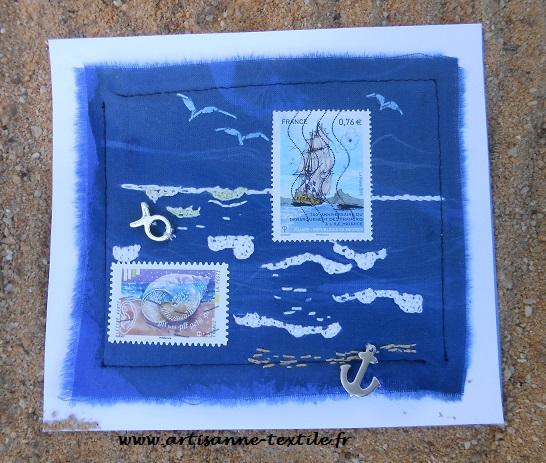 Carte-textile: la mer
