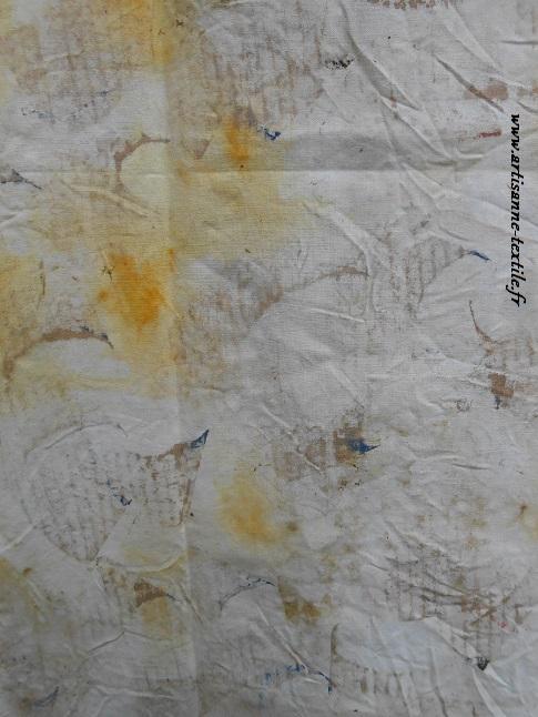 traces de pinceau -maison sur tissu