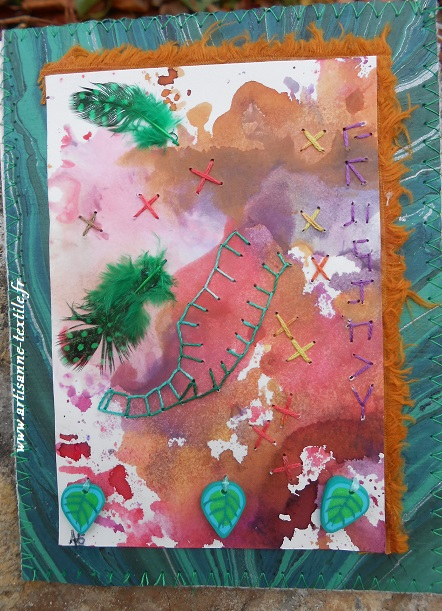Mixed media et écriture brodée