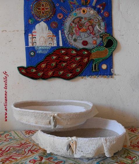 corbeille-textile blanche pour mariage