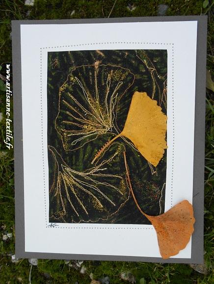 Avant livre textile, carte textile 2