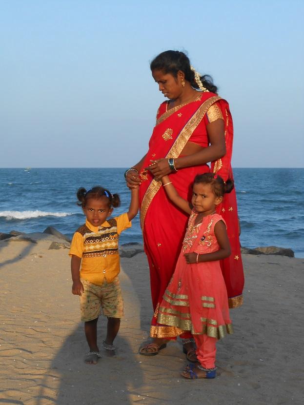 une famille en Inde (Pondichérry)