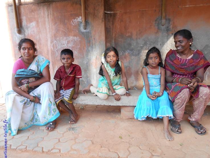 portrait de groupe en Inde