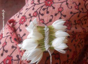 guirlande de fleurs plate, stage, Pondichéry