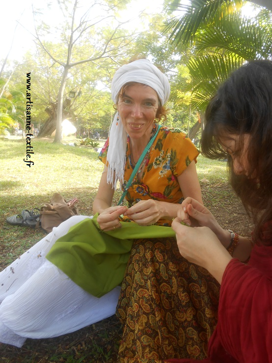 Brodeuse en Inde