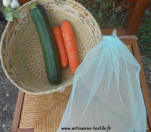 pochon de tulle pour fruits  et légumes
