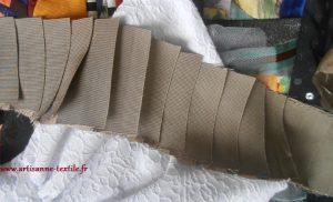 gros grain plissé artisane textile