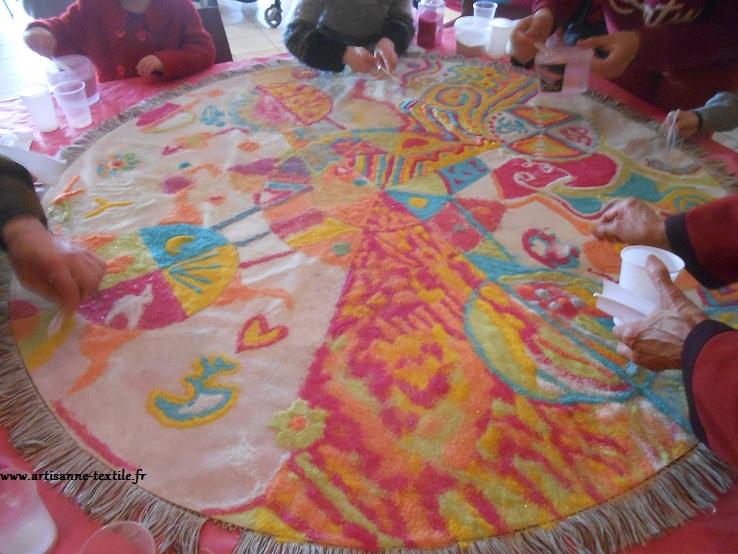 festival de l'Inde Casseneuil, mandala collaboratif