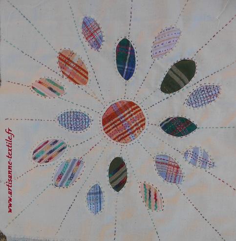 Broderie-créative lente, carré 8