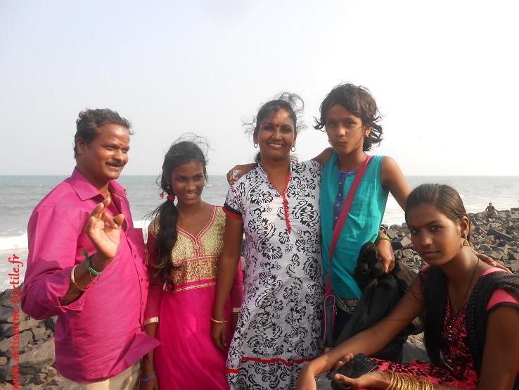 Famille indienne, janvier 2017, Pondichéri