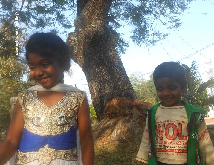 enfants indiens, le jour de Pongal