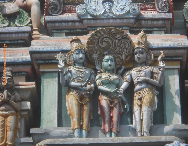 Temple de l'Inde du sud, détail (Pondichéry)