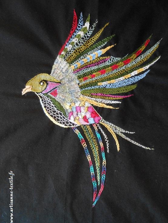oiseau brodé glazig
