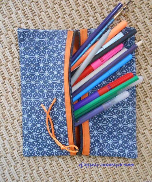 Trousse plate DIY pour feutres et crayons