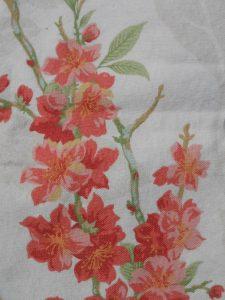 details pochette Le tissu de doublure chiné