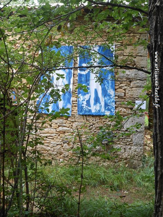 Cyanotype et Installation sur le Causse