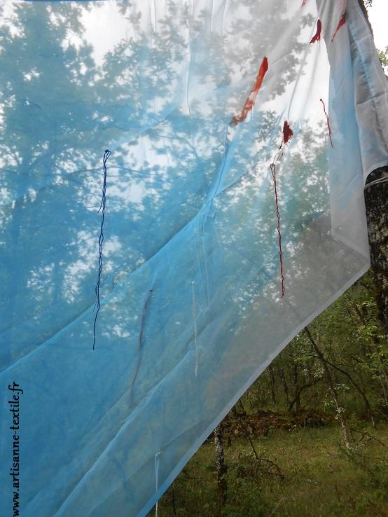 Installation cyanotype et oeuvres de P.M.Encina
