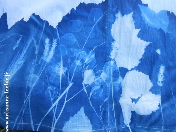 Robe 6: cyanotypes sur tissu
