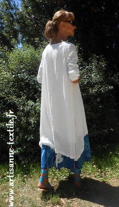 Robe, cyanotype sur tissu