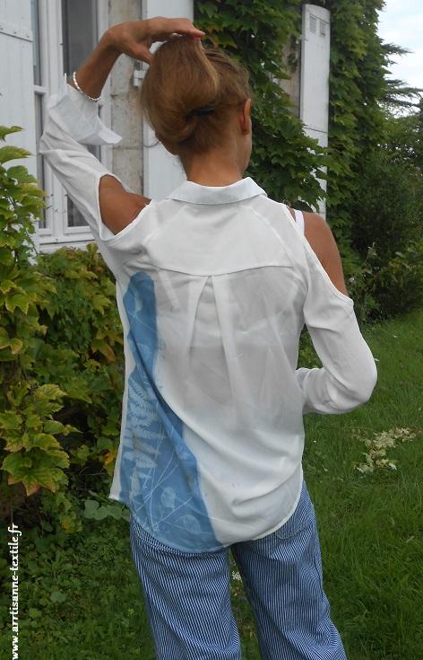 artisane- textile cyanotype sur tissu 2