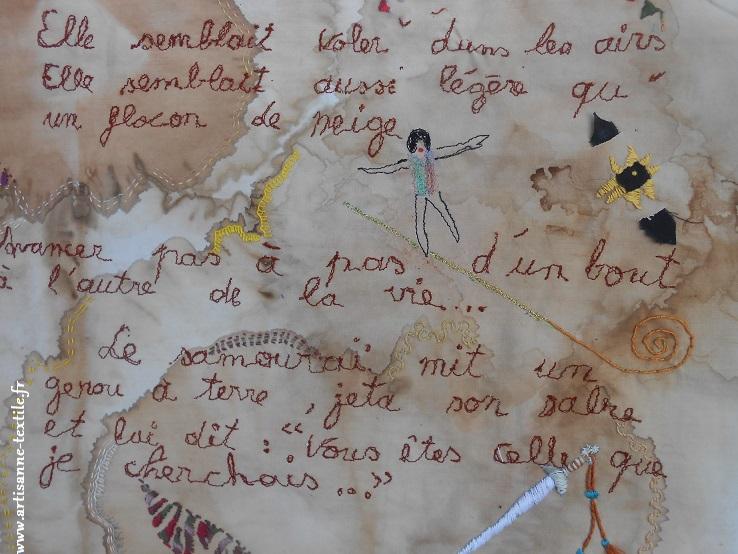 Livre -textile rouleau dernière page