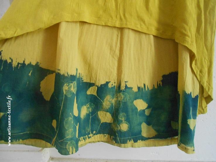 cyanotype-tissu coloré