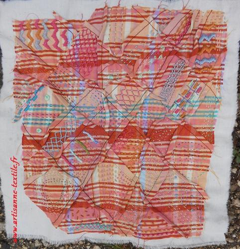 patchwork de mémoire et slow-stitching