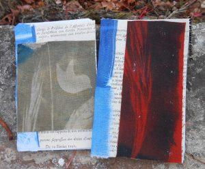 Cyanotype sur tissu et broderie 1