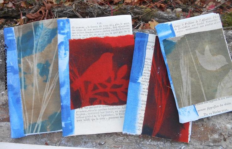 Cyanotype sur tissu et broderie 3