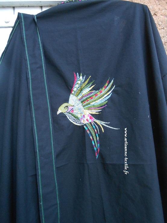 Kimono brodé eet oiseau glazig