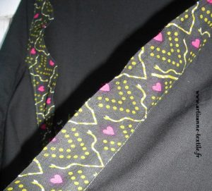 Kimono détail d'encolure