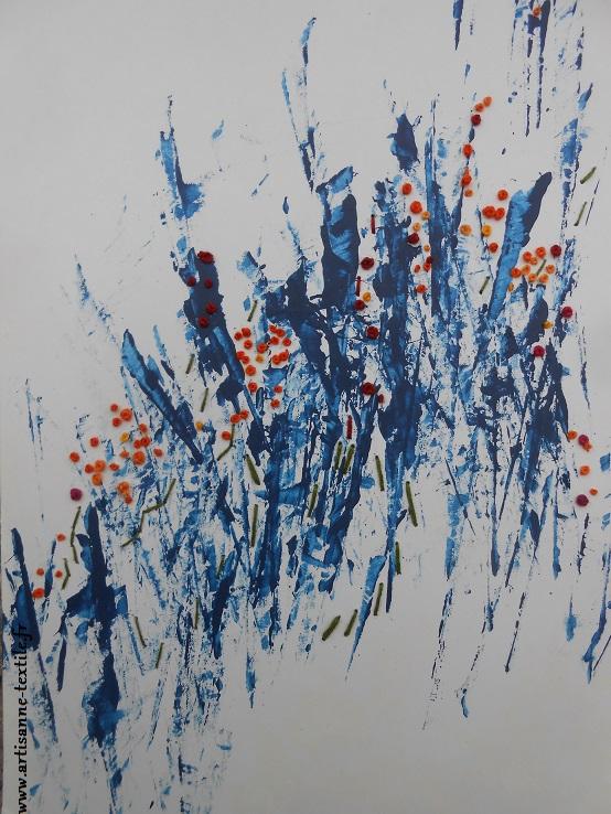 Tableau textile 2, collaboration avec Pierre-Marc Encina