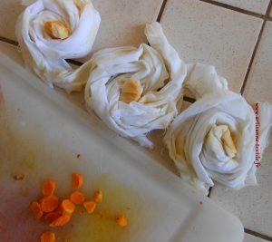 roses avec curcuma