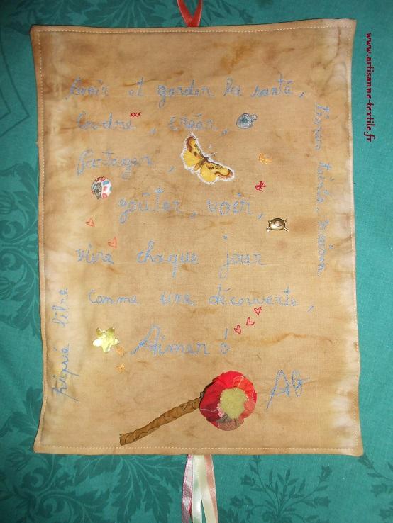 Carte de voeux textile pour MT
