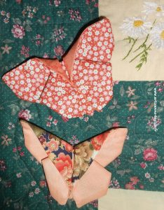 jardin textile d'Amélie: papillon en origami