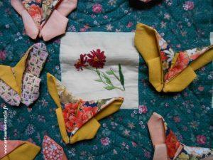 jardin textile d'Amélie: papillons en origami textile 2